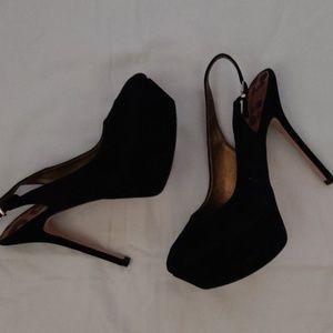 Sam Edelman black suede heels size 7-1/3